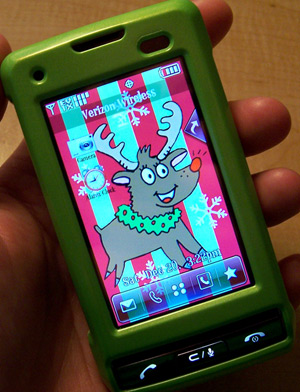 Cell Phone with Reindeer Wallpaper