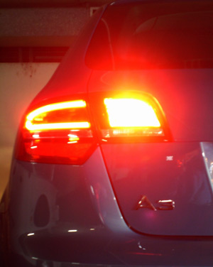 Rear fog light on an Audi