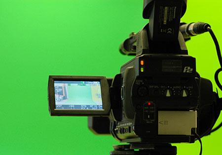green screen camera studio
